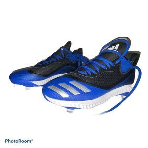 adidas Black Silver Blue Icon V Bounce Cleats New